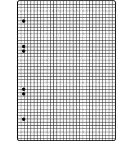BRUNNEN Ringbucheinlage, kariert, 6f.Loch., A5, 70 g/m²