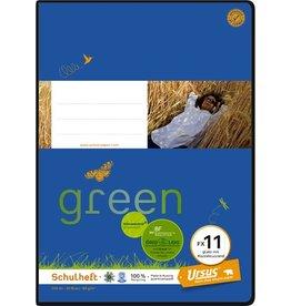 Ursus Green Schulheft, FX11, blanko mit Rand, A4, 80 g/m², 20 Blatt