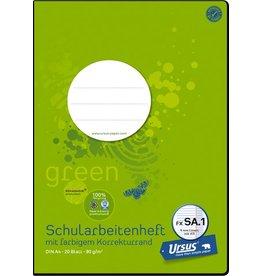 Ursus Green Schulheft, FXSA1, liniert mit Rand, A4, 80 g/m², 20 Blatt