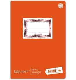 Ursus Green Schulheft, kariert mit Rahmen, A5, 80 g/m², 60 Blatt