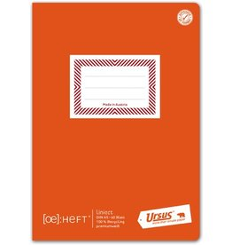 Ursus Green Schulheft, liniert 10 mm, A5, 80 g/m², 60 Blatt