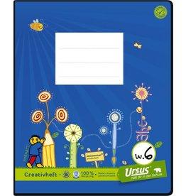 Ursus Green Schulheft, W6, liniert 10 mm, Quart, 80 g/m², 20 Blatt