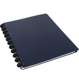 M BY STAPLES Spiralbuch arc, Kunststoff, liniert, A4, Einband: blau, 60 Blatt