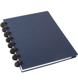 M BY STAPLES Spiralbuch arc, Kunststoff, liniert, A5, Einband: blau, 60 Blatt