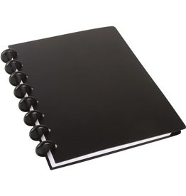 M BY STAPLES Spiralbuch arc, Kunststoff, liniert, A5, Einband: schwarz, 60 Blatt