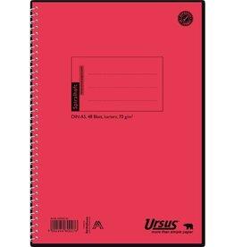 Ursus Spiralbuch, 04255020, kariert, A5, 70 g/m², Einband: orange, 48 Blatt