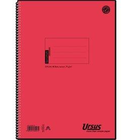 Ursus Spiralbuch, 04256020, kariert, A4, 70 g/m², Einband: orange, 48 Blatt