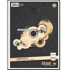 Ursus Spiralbuch, kariert 5 mm, A4, 70 g/m², 160 Blatt