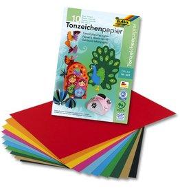 folia Tonzeichenblock, A3, 10farbig sortiert, 10 Blatt