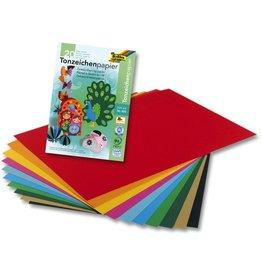 folia Tonzeichenblock, A4, 10farbig sortiert, 20 Blatt