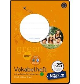 Ursus Green Vokabelheft, liniert 10 mm, A5, 80 g/m², 40 Blatt
