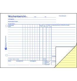 AVERY Zweckform Wochenrapport, A5q, 2f., sd, 1./2.Bl.bedr., Einband: blau, 2x40Bl.