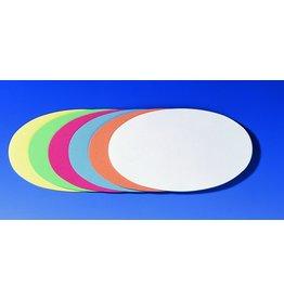 FRANKEN Moderationskarte, Oval, 19 x 11 cm, 130g/m², sortiert