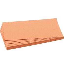 FRANKEN Moderationskarte, Rechteck, 20,5x9,5cm, 130g/m², orange