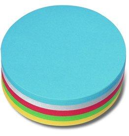 nobo Moderationskarte, Kreis, Ø: 14 cm, 130 g/m², sortiert