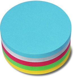 nobo Moderationskarte, Kreis, Ø: 9,5 cm, 130 g/m², sortiert