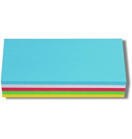 nobo Moderationskarte, Rechteck, 9,5 x 20,5 cm, 130 g/m², sortiert