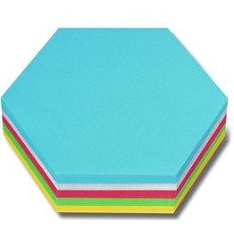 nobo Moderationskarte, Wabe, 16,5 x 19 cm, 130 g/m², sortiert