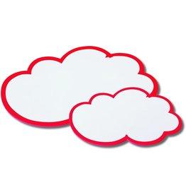 nobo Moderationskarte, Wolke, 25 x 42 cm, 170 g/m², weiß/rot