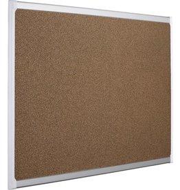 STAPLES Pinntafel PROVISION, Techcork, 90x60cm, natur, Aluminiumrahmen, weiß