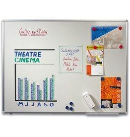 STAPLES Schreibtafel, emailliert, magnetisch, 90x60cm, Alurahmen
