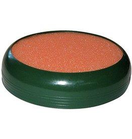 ALCO Anfeuchter, rund, Ø: 10 cm, dunkelgrün, Schwamm/Kappe: orange