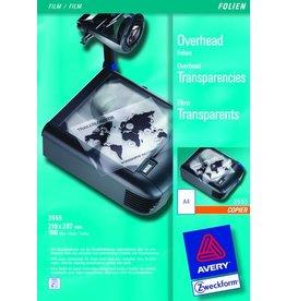 AVERY Zweckform Kopierfolie, A4, 0,1mm, tr, unbeschich.
