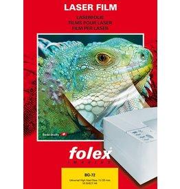 folex Farblaserfolie BG-72, A4, 0,125mm, klar, beids.beschich.