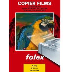 folex Kopierfolie, X-10.0, A4, 0,1mm, farblos, klar, beidseitig beschichtet