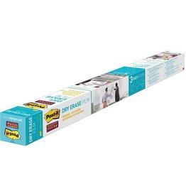 Post-it Schreibfolie Super Sticky Dry Erase, 914 mm x 1,219 m, weiß