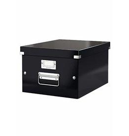 LEITZ Archivbox Click & Store, m.Deckel, A4, i: 26,5x33,5x18,8cm, schwarz