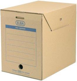 ELBA Archivbox tric, mit Klappe, A4, 23,6x33,3x30,8cm, naturbraun [6st]