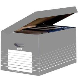 ELBA Archivbox tric, Wellpappe, Klappdeckel, 45 x 34,5 x 28 cm, grau