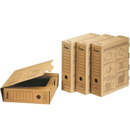bene Archivbox, A4, 8 x 33 x 29 cm, braun