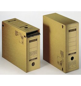 LEITZ Archivbox, Wellp.(RC), m.Klappe, A4, 12x27x32,5cm, br