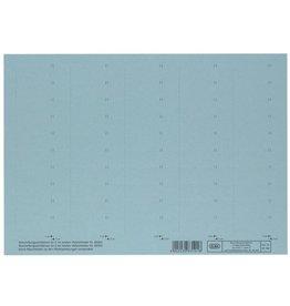 ELBA Einsteckschild, Karton, 160g/m², 4zeilig, 58 x 18 mm, blau