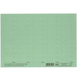 ELBA Einsteckschild, Karton, 160g/m², 4zeilig, 58 x 18 mm, grün