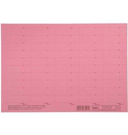 ELBA Einsteckschild, Karton, 160g/m², 4zeilig, 58 x 18 mm, rot