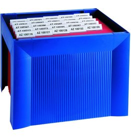 HAN Hängebox KARAT, leer, A4, 36x32x26,4cm, für: 35 Hängemappen, blau