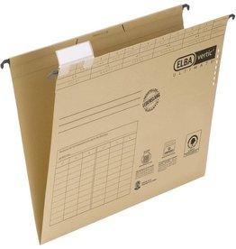 ELBA Hängemappe vertic® ULTIMATE®, Karton, 240g/m², seitl. off., A4, braun