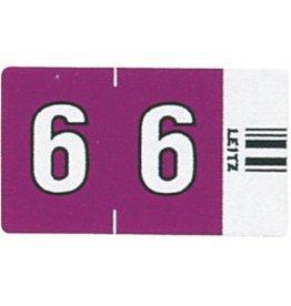 LEITZ Signaletikett Orgacolor®, sk, 6, 23x30mm, vio