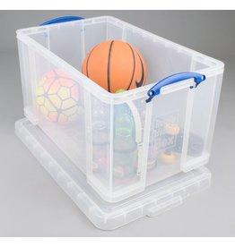 Really Useful Box Aufbewahrungsbox, PP, 84 l, 71 x 44 x 38 cm, farblos, tr