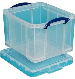 Really Useful Box Aufbewahrungsbox, PP, 35 l, 48 x 39 x 31 cm, farblos, tr