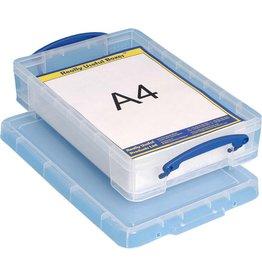 Really Useful Box Aufbewahrungsbox, PP, 4 l, 39,5 x 25,5 x 8,8 cm, farblos, tr