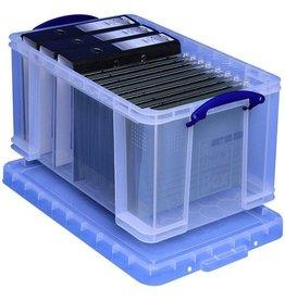 Really Useful Box Aufbewahrungsbox, PP, 48 l, 61 x 40,2 x 31,5 cm, farblos, transparent