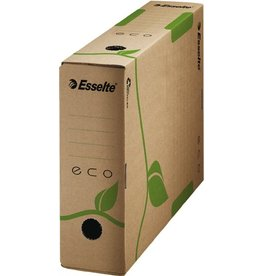 Esselte Archivbox ECO, Wellpappe (RC), A4, 8 x 32,7 x 23,3 cm, naturbraun