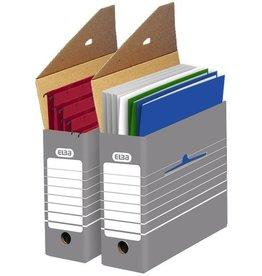 ELBA Archivbox tric, für Hängemappen, A4, 9,5x34x26,5cm, grau/weiß
