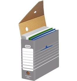 ELBA Archivbox tric, für Hängemappen, Wellpappe, A4, 11x34x27cm, grau/weiß