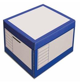 Pressel Archivbox, 43l, Wellp., Klappdeckel, 41x35x30cm, i: 39x33x29cm, blau