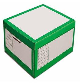 Pressel Archivbox, 43l, Wellp., Klappdeckel, 41x35x30cm, i: 39x33x29cm, grün